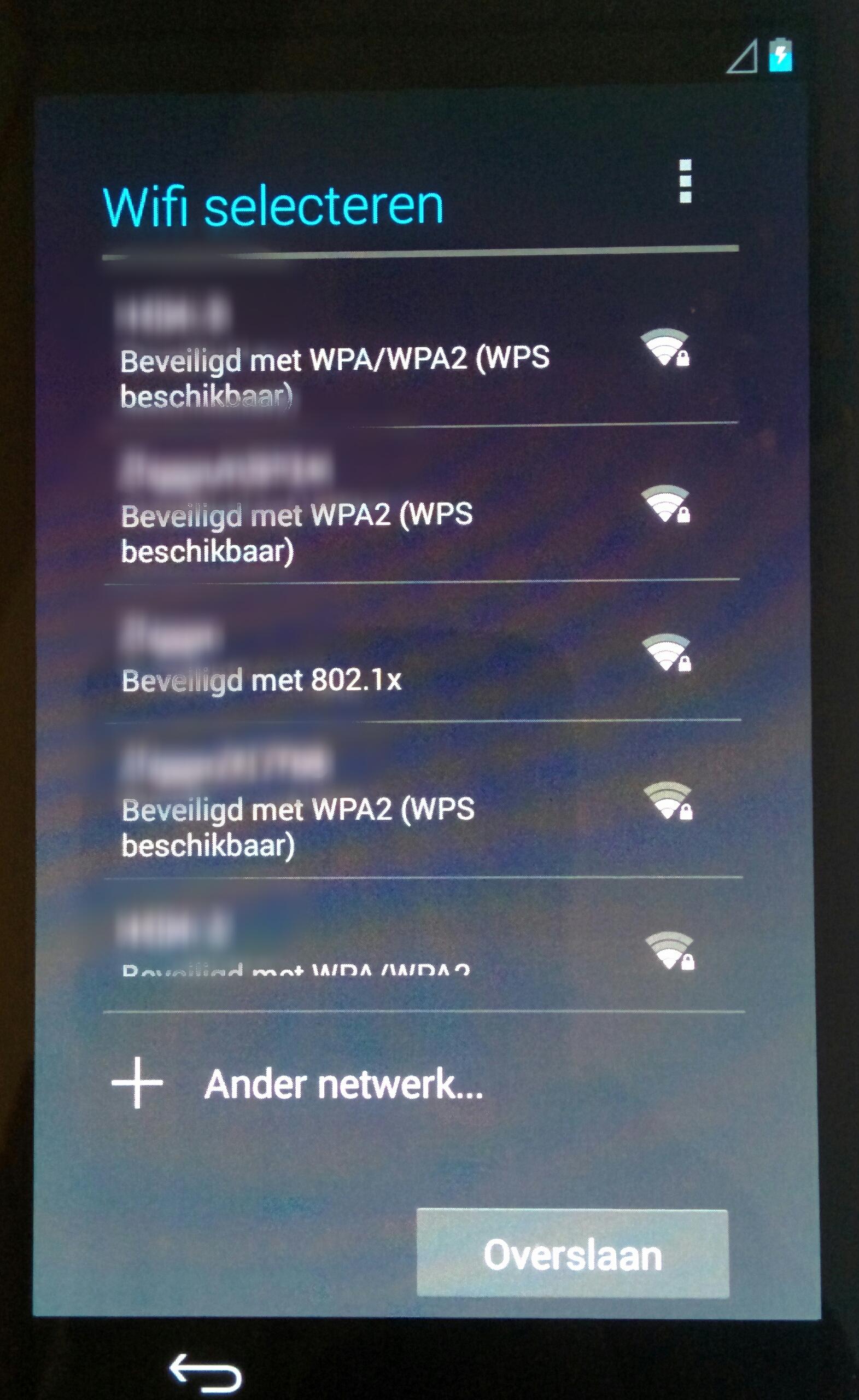 Aanmelden bij wifi