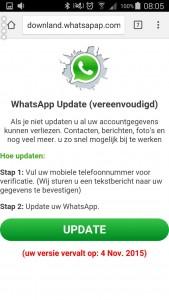 Nep waarschuwing Whatsapp2