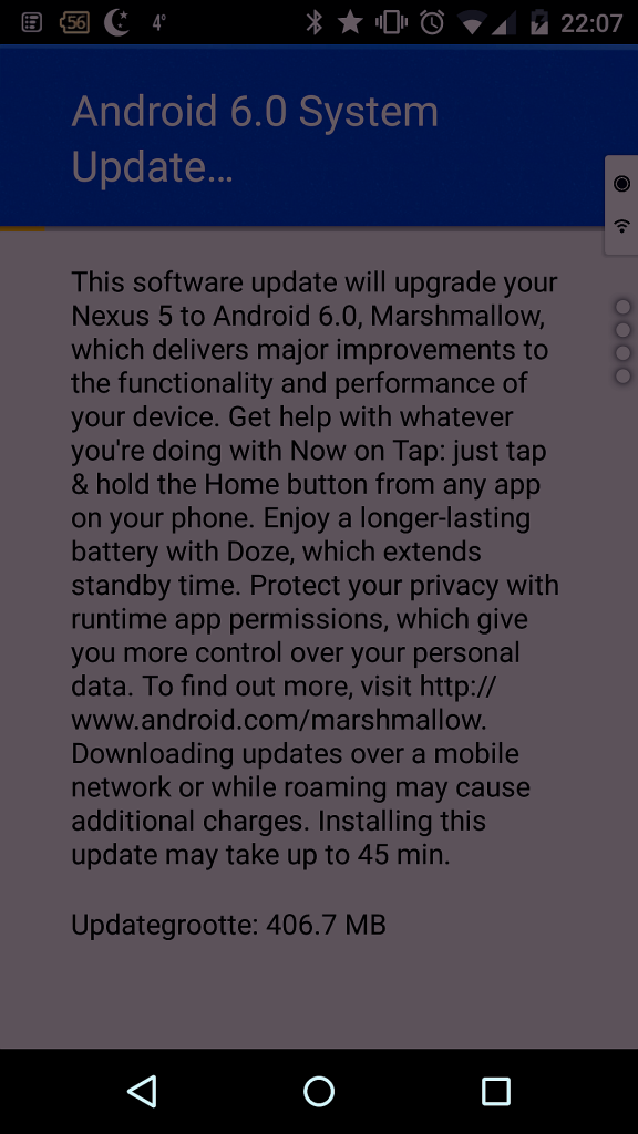 Systeem Update 6.0