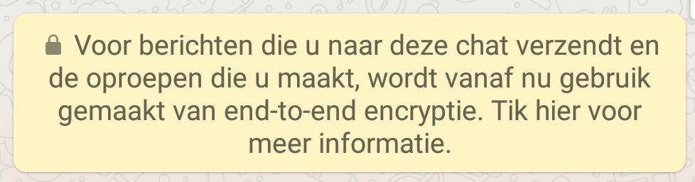 End-To-end encryptie WhatsApp