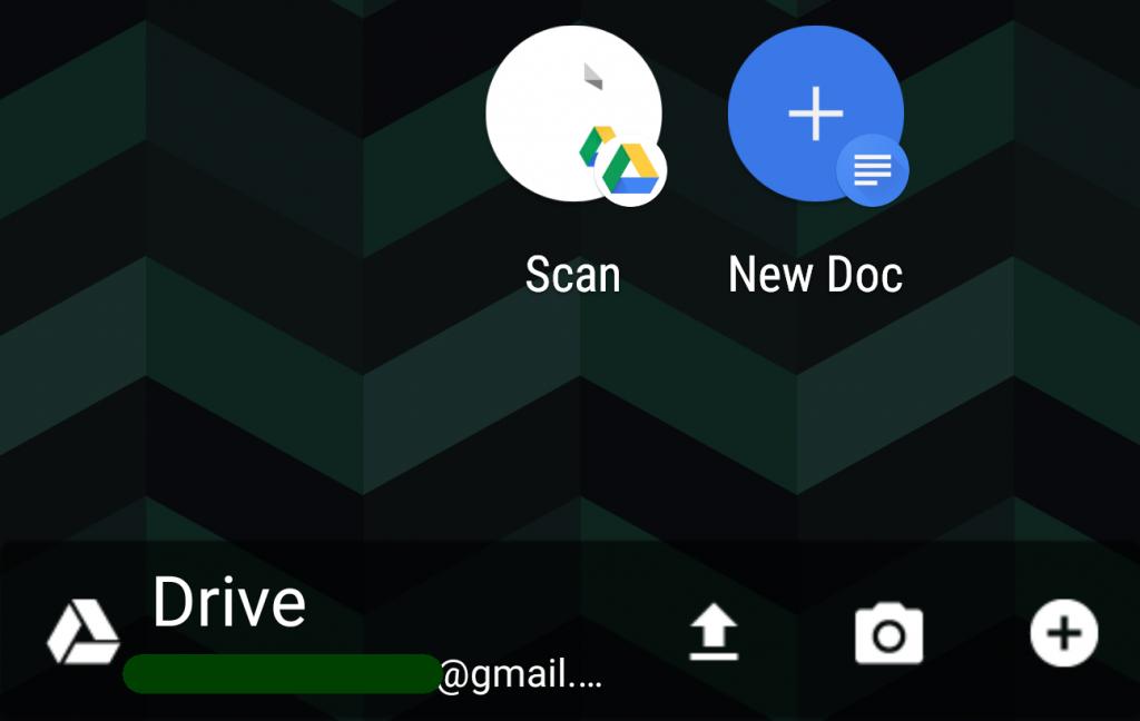 Widget drive scan